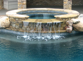 Gunite Pool Spill Over Spas