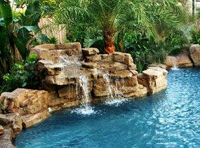 Gunite Pool Waterfalls
